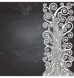 Black blank chalkboard vector