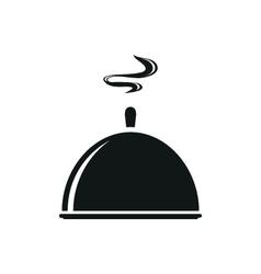 Black tray kitchenware trey isolated tray closed vector