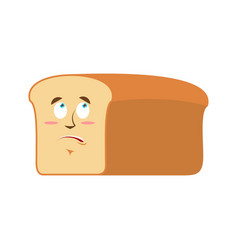 bread surprised emoji piece of bread astonished vector image