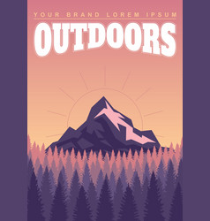 Bright landscape mountains and forests vector