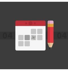 Calendar minimalism vector