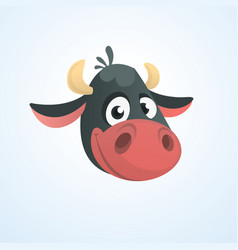 cartoon cute cow vector image