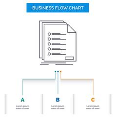 Check filing list listing registration business vector