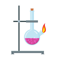 Chemical experiment laboratory equipment glass vector