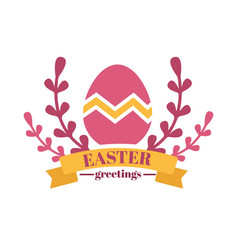christian holiday happy easter spring isolated vector image