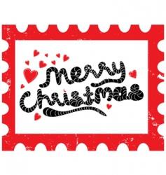 Christmas stamp vector
