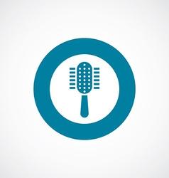 Comb icon bold blue circle border vector