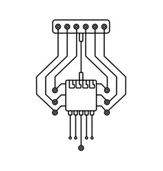 Computer chip sistem isolated accessories for vector
