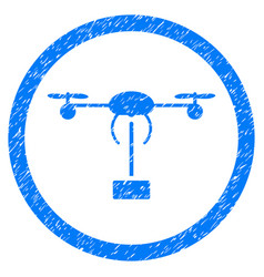 copter shipment rounded grainy icon vector image