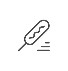 corn dog line icon vector image