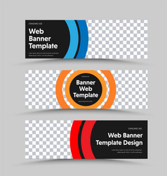 design black horizontal web banners with place vector image
