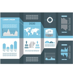 Detail business info graphic vector image