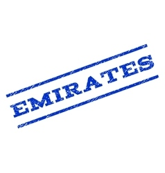 Emirates Watermark Stamp vector image