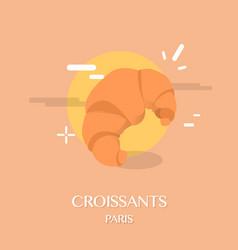 famous french cuisine croissants vector image