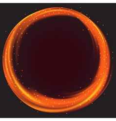 Fire circle frame vector image
