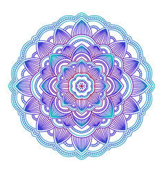 gradient mandala circle ethnic ornament hand vector image