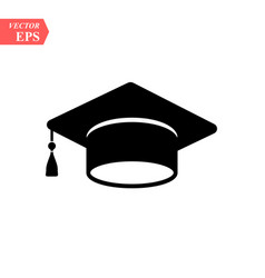 graduation hat icon isolated on white background vector image