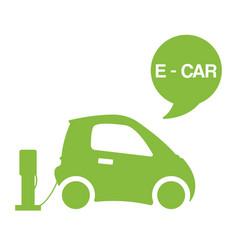 Green e-car ecological electromobile concept vector