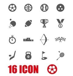 grey sport icon set vector image