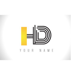 Hd black lines letter logo creative line letters vector