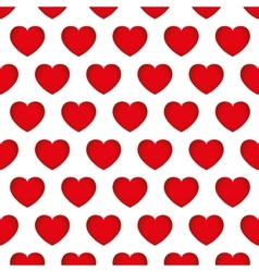 hearts love seamless pattern background design vector image