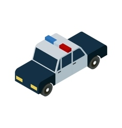 isometric police car icon vector image