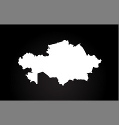 Kazakhstan black and white country border map vector