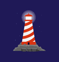 Lighthouse or searchlight tower for maritime vector