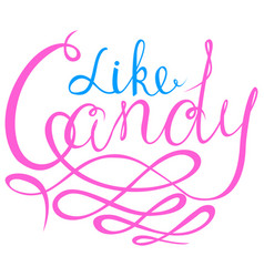 Like candy - halloween party hand drawn lettering vector