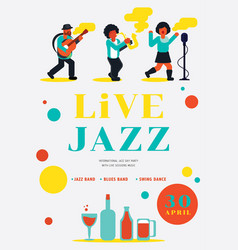 live jazz party with jazz band vector image