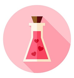Love Poison with Hearts Circle Icon with long vector image