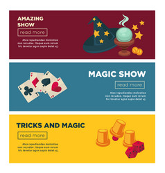 magic show with amazing tricks internet vector image