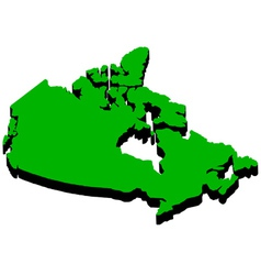 Map of Canada in the amount of vector