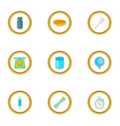 measurement icons set cartoon style vector image