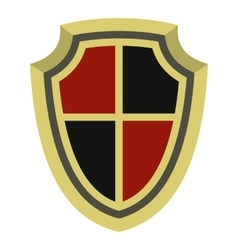 Medieval shield icon flat style vector