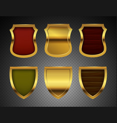 medieval shields realistic metal shields vector image