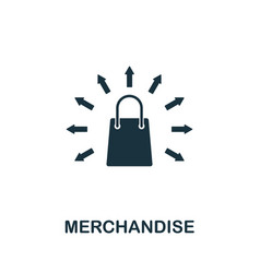 Merchandise icon symbol creative sign from vector