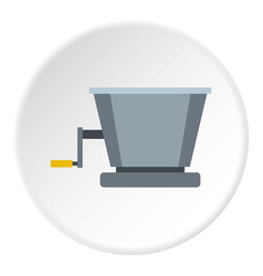 Metal retro juicer or grinder icon circle vector