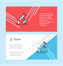 microscope abstract corporate business banner vector image