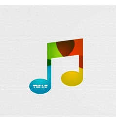Modern paper design music concept vector image