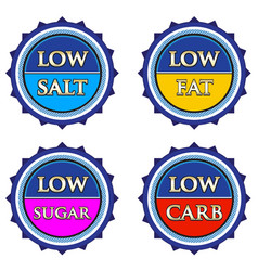 Nutrition info tag set vector