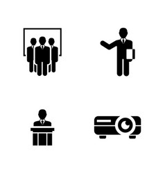 presentation simple related icons vector image