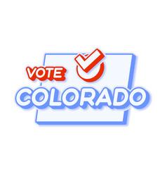Presidential vote in colorado usa 2020 state map vector