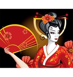 Pretty Geisha Cartoon vector