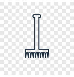rake concept linear icon isolated on transparent vector image