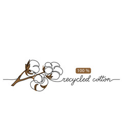 Recycled cotton icon sign vector