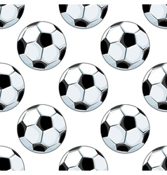 Seamless background pattern of soccer balls vector
