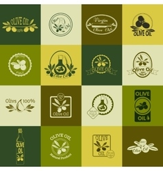 Set of olive oil labels badges and logos for vector