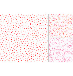 set of valentines day seamless patterns vector image