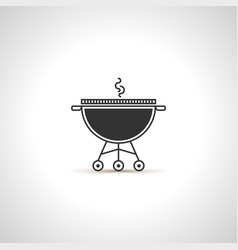 Simple grill icon black emblem vector